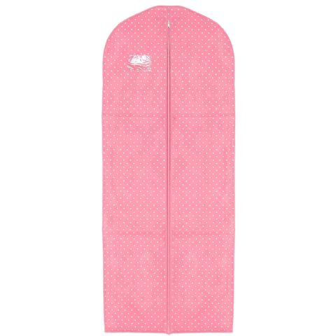 Pink Dotty Long Coat Gown & Dress Cover / Carrier